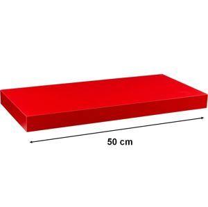 Nástenná polica STILISTA - červená 50 cm