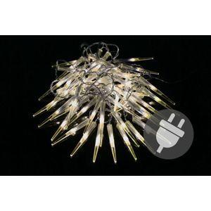 Vianočné dekoratívne osvetlenie - cencúle - 60 LED teplá biela