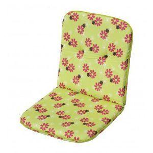 Polstrování na nízké křeslo SCALA - zelená s květy 30330-220