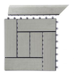 Prechodová lišta G21 pre WPC dlaždice Incana, 38,5 x 7,5 cm rohová (ľavá)
