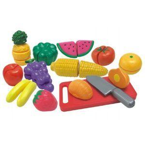 Ovoce a zelenina krájecí s náčiním plast 25ks v krabici 40x27x6cm