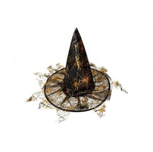 Klobouk čarodějnický s třásněmi 35x37,5cm karneval