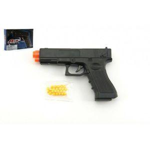 Pistole na kuličky 17cm plast + kuličky v krabici