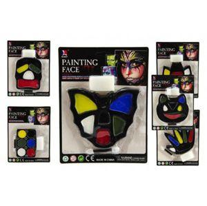 Barvy obličejové asst na kartě karneval