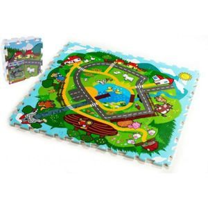 Teddies puzzle Město Moje první zvířátka MPZ 30x30x1 2cm 9 ks