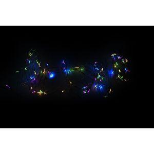 LED osvetlenie - strieborný drôt - 80 LED farebné