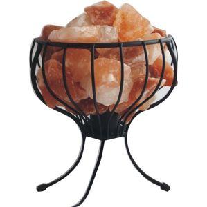 Kovový stojan so soľnými kryštálmi - elektrický