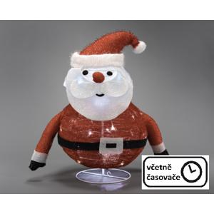 Vianočná dekorácia - Santa Claus, 30 LED, 58 cm
